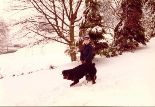 Huw and friend in the snow_1
